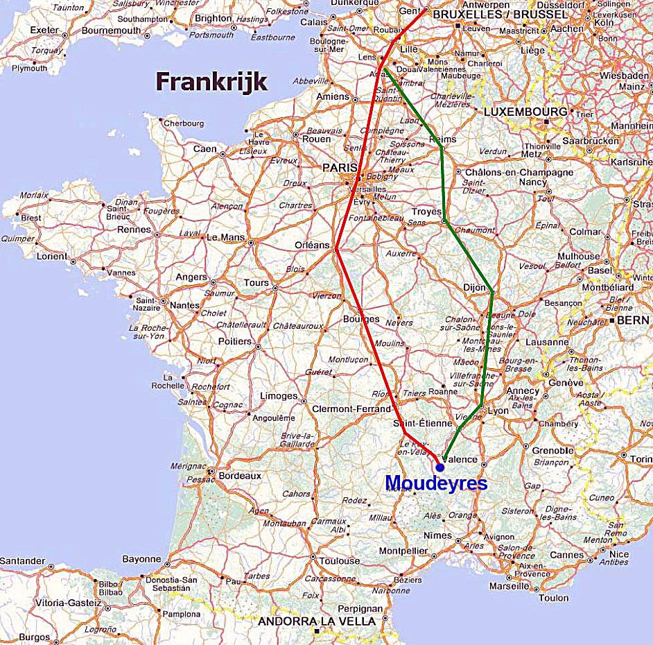 Vakantiehuis Frankrijk Moudeyres Haute Loire 2 Ligging